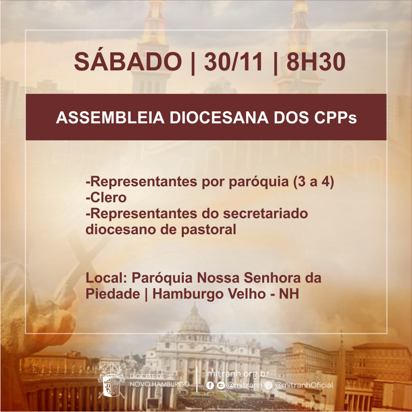 Assembleia Diocesana dos CPPs